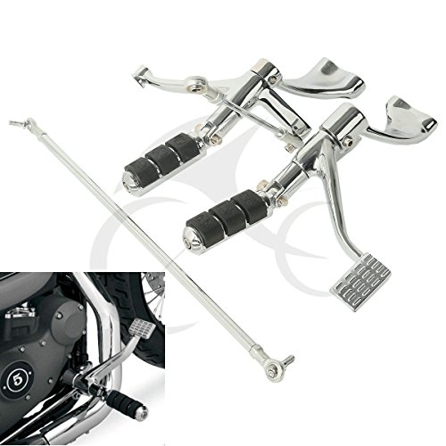 Lever Kit Control (TCMT Motor Chrome Forward Controls Pegs Levers Linkages For Harley Sportster 1200 Low (XL1200L) 2006 07 08 09 10 2011 Sportster 1200 Nightster (XL1200N) 2007-2012)