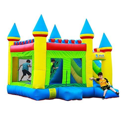 51sPKOEy3aL. SS500 ● 【Múltiples áreas de actividad】 : Este castillo inflable tiene forma de caricatura, un aro de baloncesto, un tobogán, etc., que no solo permite que los niños disfruten de una variedad de diversión, sino que también ayuda al desarrollo de la altura del niño y también puede resolver el problema.Problemas de los padres. ● 【Material de calidad】 : El castillo inflable está hecho de material oxford, que es seguro y ecológico.El diseño de doble costura hace que este castillo inflable sea más fuerte. ● 【Diseño de seguridad】 : La altura del trampolín está diseñada para garantizar la seguridad de los niños mientras juegan y para permitir la máxima ventilación.Más importante aún, a través de los juguetes, los padres pueden prestar atención a la dinámica del niño en tiempo real para evitar accidentes.