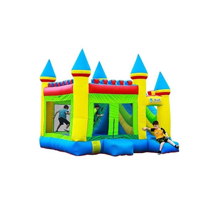 51sPKOEy3aL ● 【Múltiples áreas de actividad】 : Este castillo inflable tiene forma de caricatura, un aro de baloncesto, un tobogán, etc., que no solo permite que los niños disfruten de una variedad de diversión, sino que también ayuda al desarrollo de la altura del niño y también puede resolver el problema.Problemas de los padres. ● 【Material de calidad】 : El castillo inflable está hecho de material oxford, que es seguro y ecológico.El diseño de doble costura hace que este castillo inflable sea más fuerte. ● 【Diseño de seguridad】 : La altura del trampolín está diseñada para garantizar la seguridad de los niños mientras juegan y para permitir la máxima ventilación.Más importante aún, a través de los juguetes, los padres pueden prestar atención a la dinámica del niño en tiempo real para evitar accidentes.