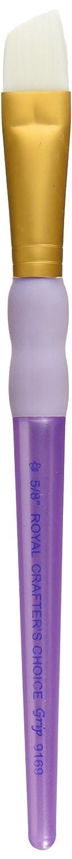 Royal Brush Crafter's Choice White Taklon Angular Brush-5/8 Width R9169-5/8