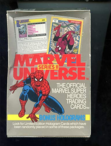 1991 Impel Marvel Universe Series II 2 Card Set Wax Pack Box FACTORY SEALED