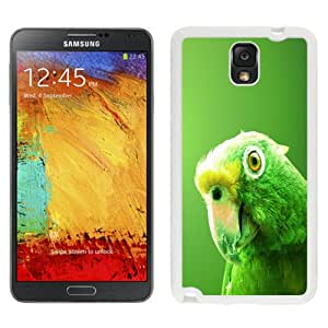 NEW Fashion Custom Designed Cover Case For Samsung Galaxy Note 3 N900A N900V N900P N900T Green Parrot White Phone Case