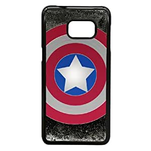 Generic hard plastic Captain America Logo Cell Phone Case for Samsung Galaxy S6 Edge Plus Black ABC83