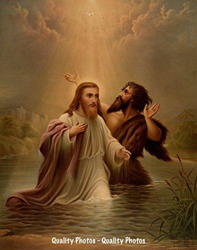 Jesus Baptized by John the Baptist 8.5x11 Photo Print