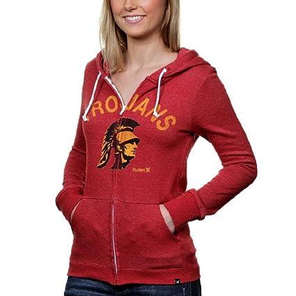 8f96cef5c78700 NCAA Hurley USC Trojans Women s Slim Full Zip Fleece Hoodie - Cardinal (X- Small