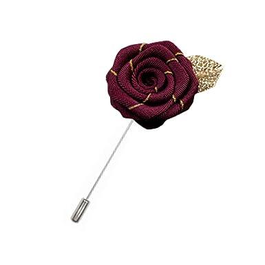 Rosa flor solapa Pin hombres traje broche moda regalo, A26 ...