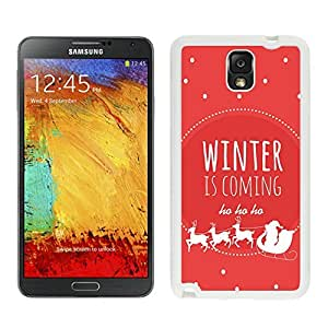Special Custom Made Winter is coming White Samsung Galaxy Note 3 Case 1 by Maris's Diary
