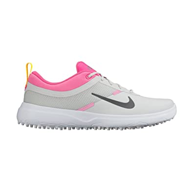 Nike Women's Akamai Spikeless Golf Shoes Grey/Pink/Multi ...
