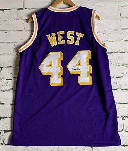 Jerry West Signed Autographed Los Angeles Lakers Basketball Jersey - JSA COA