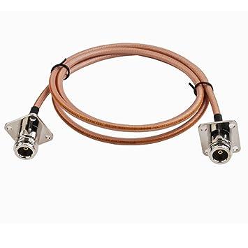 RF Coaxial Conector N Jack macho Pin 4 agujeros de montaje en panel a N Jack