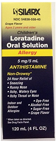 - Silarx Children's Loratadine Oral Solution 4oz Per Bottle (3 Bottles)