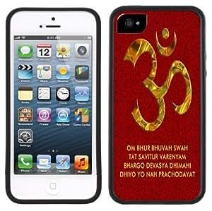 Aum OM Symbol Handmade iPhone 5 5S Black Case
