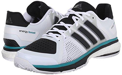 adidas tennis energy boost-U Shoes, White/Black/Clear Onix Grey, 10.5 M US
