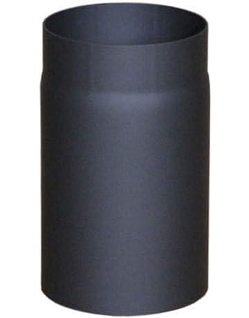Tubo garant/ía 250/mm con v/álvula de estrangulaci/ón 200/mm de di/ámetro negro lanzzas humo Tubo estufa