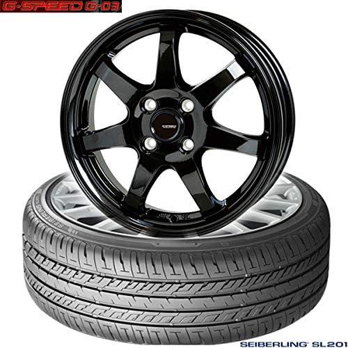 ブリジストン製|セイバーリング SEIBERLING SL201〈185/55R15 82V〉&G.speed G-03〈15×5.5 +43 100 4H〉|タイヤホイール4本セット