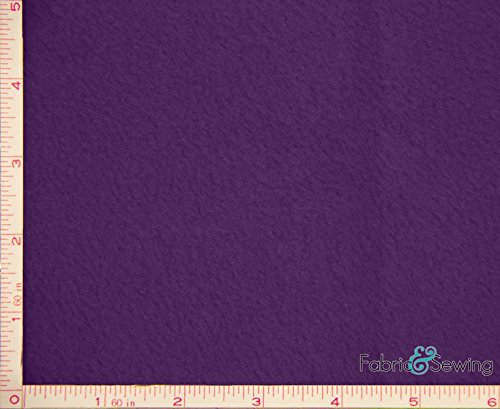 Bright Purple Anti-Pill Polar Fleece Fabric Polyester 13 Oz 58-60