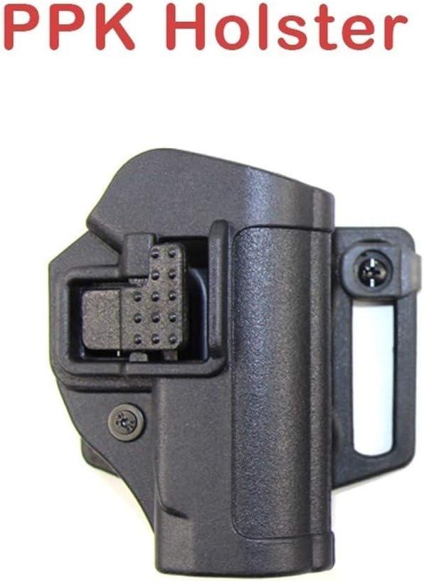 Vioaplem Carry Funda Táctica CQC PPK Walther PPK PPK-L PPK/S 2238 Pistolera Cinturón De Airsoft Arma De La Pistola Caso Caza Mano Derecha