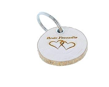 Schlüsselanhänger Holz Geschenk Mit Gravur Für Trauzeuge Trauzeugin