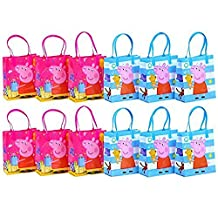 "Peppa Pig Party Favor Goodie Gift Bag - 6"" Small Size (12 Packs)"