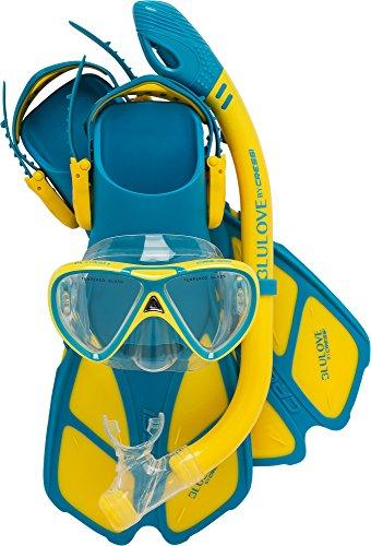 Cressi Mini Bonete Set, blue/yellow, S/M