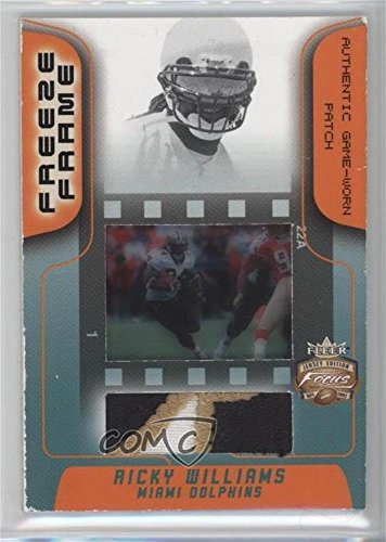 Ricky Williams #5/50 (Football Card) 2002 Fleer Focus Jersey Edition - Freeze Frame - Patch [Memorabilia] #FR-RW (Ricky Williams Football)