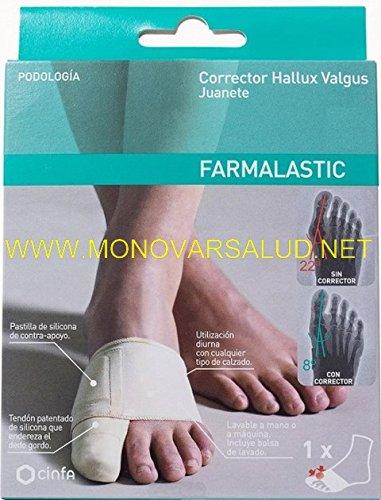 FARMALASTIC Corrector Hallux Valgus Juanete Talla Mediana: Amazon.es: Salud y cuidado personal