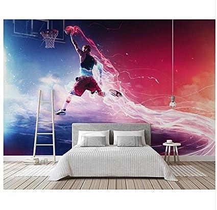 Amazon Com 3d Wallpaper Mural Custom Mural Cool Basketball Slam