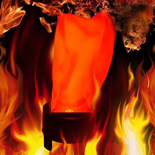Zehui Halloween LED Hanging Fake Flame Lamp Torch Light Fire Pot Bowl Festival Party Decor Prop EU (Fake Fire Halloween)