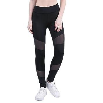 Tenxin Leggings Mujer Deporte Pantalones de Entrenamiento de ...