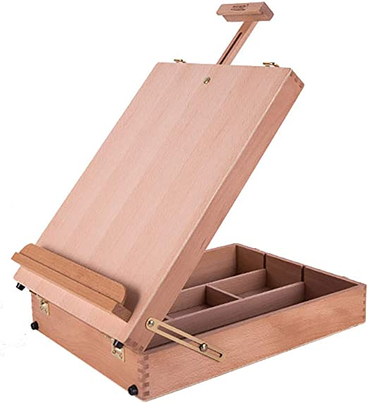 Xuping Caja de Herramientas portátil de Madera de la Caja de la Pintura al óleo portátil de Madera sólida de la Base Caja de Herramientas de Madera para Pintar: Amazon.es: Hogar