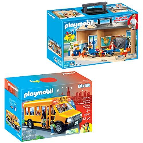 Maven Gifts: PLAYMOBIL School Bus with PLAYMOBIL Take Along