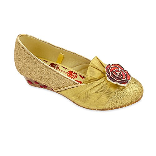 Disney Belle Costume Shoes for Girls Size 7/8 TODLR Yellow ()