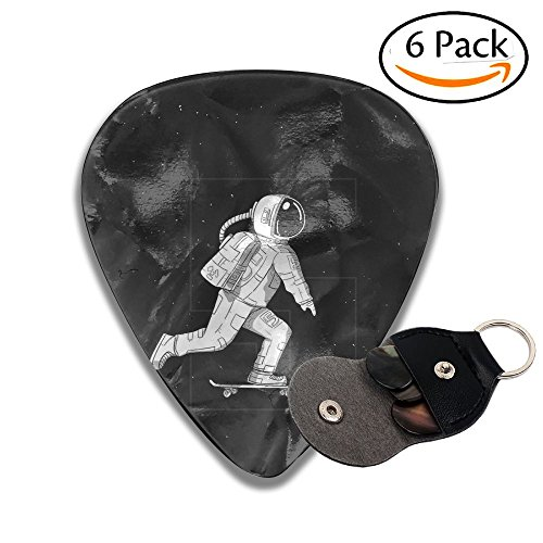 - Astronauts Play Skateboards In Space 351 Shape Classic Celluloid Guitar Picks For Guitar Bass - 6 Pack .71mm