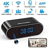 4K Hidden Camera Clock WiFi Wireless 2019 Newest IP Camera with Seven Level