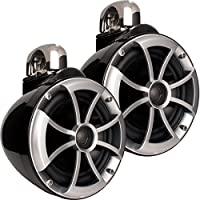Wet Sounds 2) ICON 8 Fixed Clamp Tower Speakers - Pair Black