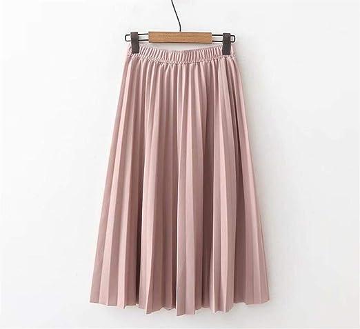 PAIOUPAIOU Falda Plisada de Las señoras, Faldas de Cintura Alta de ...