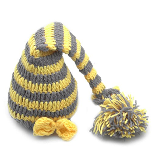 Hot Sale! Newborn Baby Girls Boys Crochet Knit Costume Photo Photography Prop Hat Outfits (Yellow-Gray (Cotton Ball Sheep Costume)