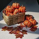 DomeStar Artificial Pumpkins for Decoration, 12PCS