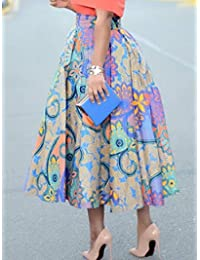 A-Line VERWIN Falda mediana de cintura alta con estampado floral