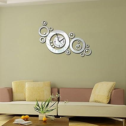 EverTrust(TM) New 3d Diy Acrylic Wall Clock Quartz Watch Clocks Mirrorwall Reloj De