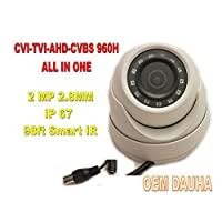 HD CVI TVI AHD CVBS 2 MP 1080p 960H 4-in-1 Outdoor IR Dome Security Camera 2.8mm OEM Dauha