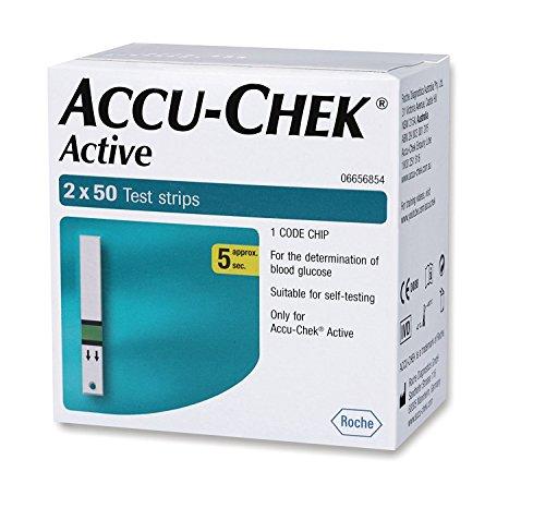 -Chek Active 100 Strips, (50x2) - (Multicolor) ()