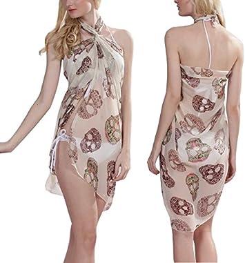 Para mujer near Dark falda de diseño de calavera patrón de toalla ...