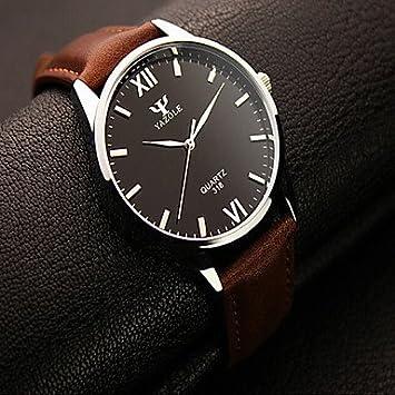 Relojes Hermosos, Yazole los hombres relojes de moda ronda relojes romanos de los hombres reloj