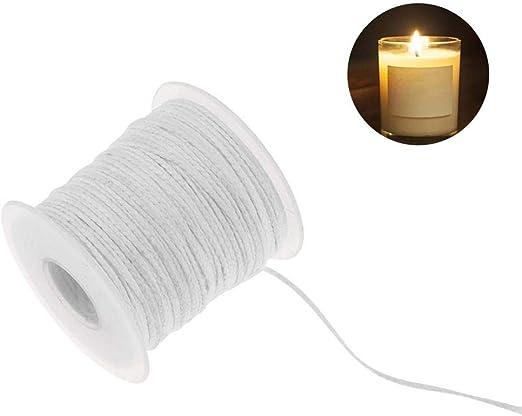 TEEPAO Carrete de Mecha de algodón, 24 Capas, 200 pies, mechas de ...