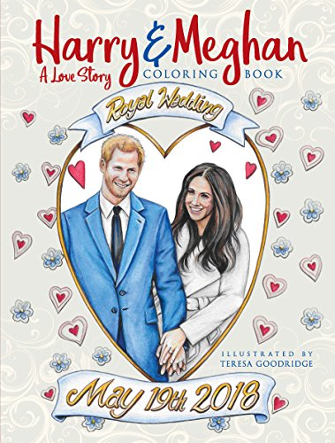 Harry and Meghan: A Love Story Coloring Book cover