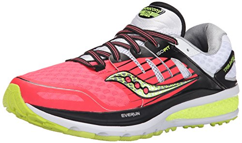 Saucony Women's Triumph ISO 2 Running Shoe, Coral/Silver, 9 M US