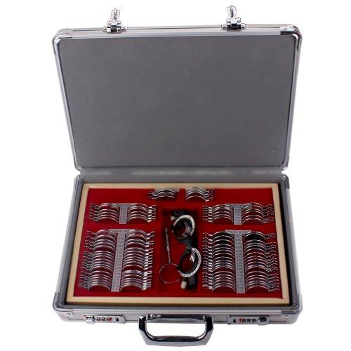 Trial Set (104PCS Trial case lenses Box Trial Frame Metal Rim Ophthalmic Trial Case Optical Trial Lens Set)