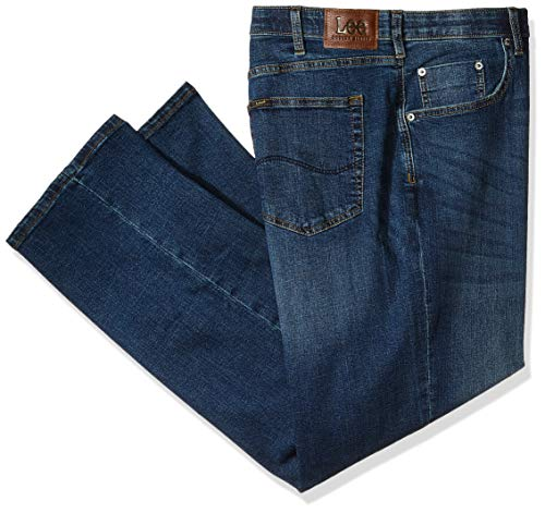 LEE Men's Big-Tall Modern Series Custom-Fit Relaxed Straight-Leg Jean, icon, 46W x 30L