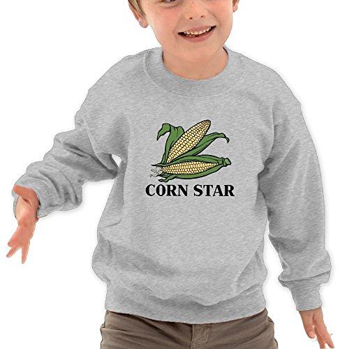 Puppylol Corn Star Kids Classic Crew-neck Pullover Sweatshirt Ash 3 Toddler